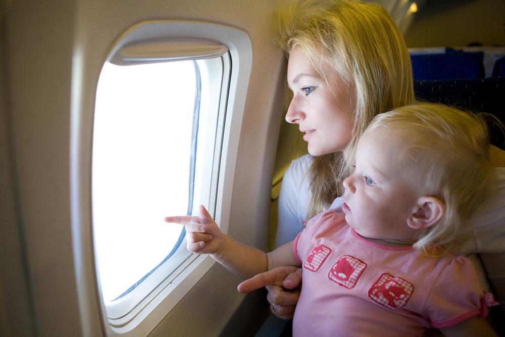 zbor cu copii mici