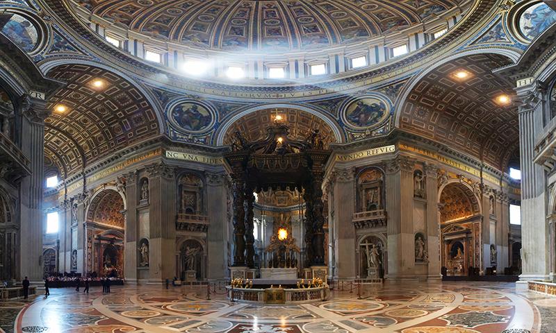 Bazilica Sfantului Petru - interior