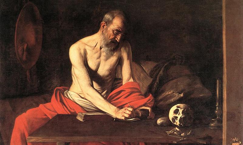 Sfantul Ieronim scriind, Caravaggio
