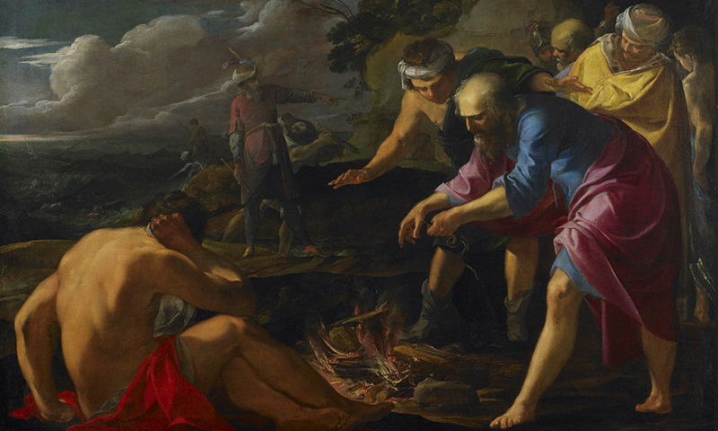 Sfantul Pavel naufragiat in Malta, Laurent de la Hyre