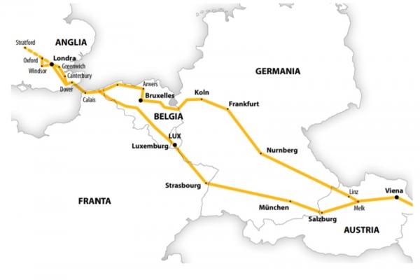 Harta Circuit Anglia Belgia  | 11 zile - Autocar | 2021