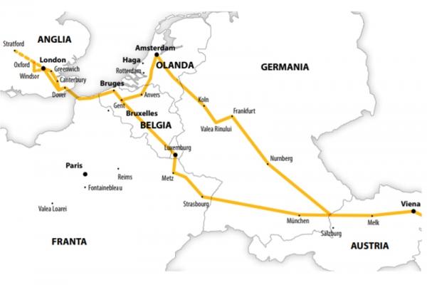 Harta Circuit Anglia - Benelux  | 13 zile - Autocar | 2020