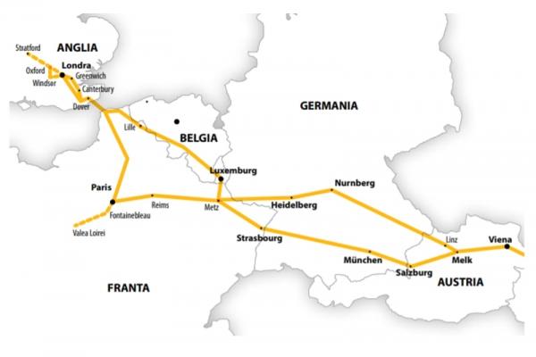 Harta Circuit Anglia - Franta  | 12 zile - Autocar | 2020