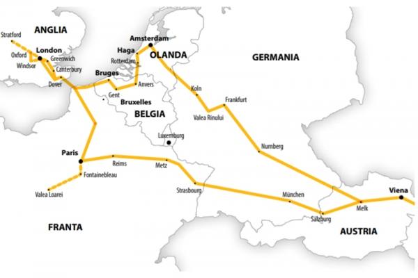 Harta Circuit Anglia - Franta - Benelux  | 14 zile - Autocar | 2021