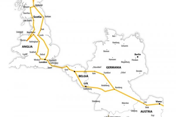 Harta Circuit Anglia - Scotia   16 zile - Autocar   2020