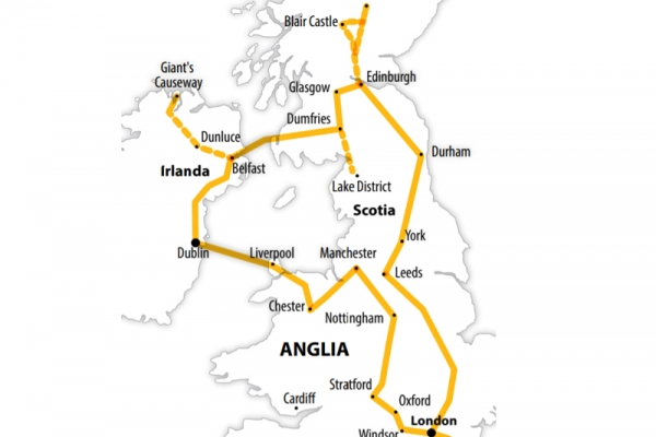 Harta Circuit Anglia - Scotia - Irlanda | 12 zile - Avion | 2020