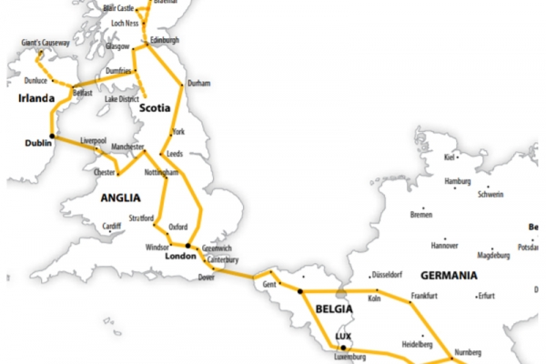 Harta Circuit Anglia - Scotia - Irlanda | 18 zile - Autocar | 2021