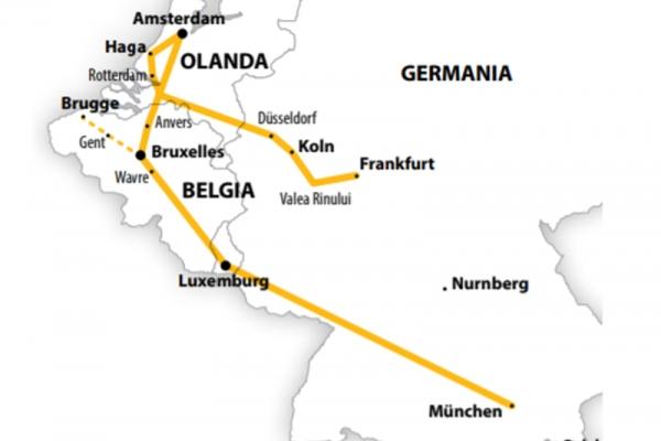 Harta Circuit Benelux | 6 zile - Avion | 2020