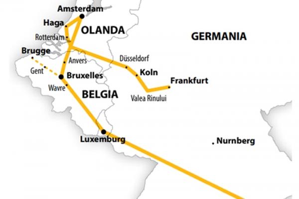 Harta Circuit Benelux | 9 zile - Autocar | 2020
