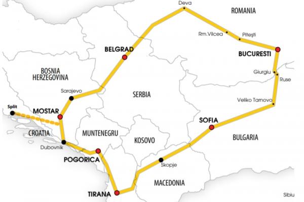 Harta  Circuit Bosnia - Albania | 7 zile - Autocar | 2021