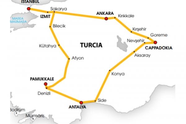 Harta Circuit Cappadocia | 8 zile - Avion | 2020