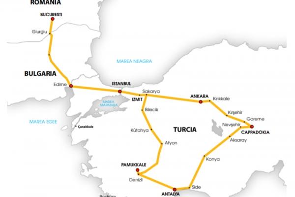 Harta Circuit Cappadocia Pamukkale | 8 zile - Autocar | 2021