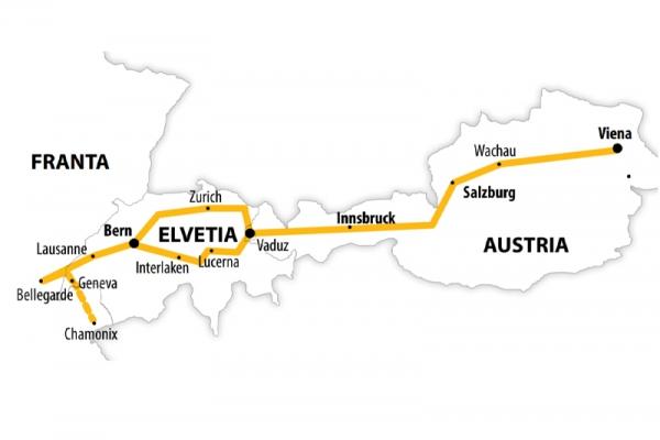Harta Circuit Elvetia | 7 zile - Autocar | 2021
