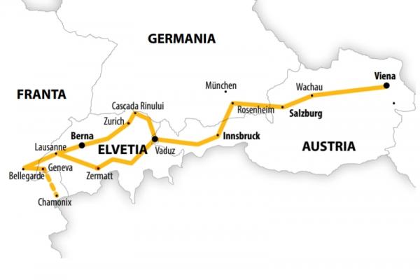 Harta Circuit Elvetia - Bavaria | 9 zile - Autocar | 2020