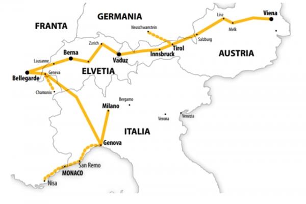 Harta Circuit Elvetia - Coasta de Azur | 8 zile - Avion | 2020