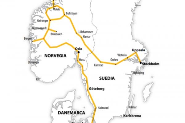 Harta Circuit Fiorduri Scandinave | 10 zile - Avion | 2020