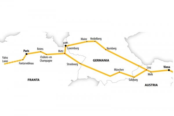 Harta Circuit Franţa  | 8  zile - Autocar | 2020