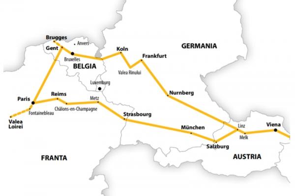 Harta Circuit FRANTA -Belgia 10 zile Autocar 2021