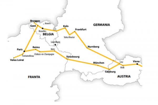 Harta Circuit Franta - Belgia - Germania | 11 zile - Autocar | 2020