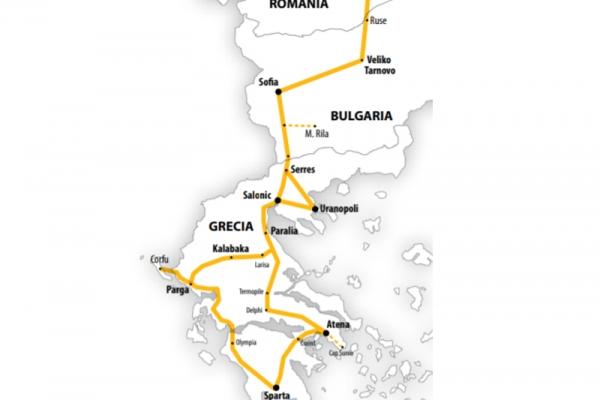 Harta Circuit Grecia Clasică și Insula Corfu | 10 zile - Autocar | 2021