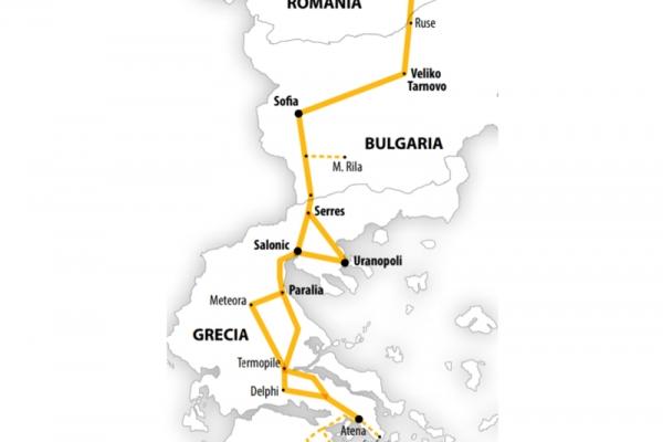 Harta Circuit Grecia - Peloponez  | 7 zile -  Autocar | 2021