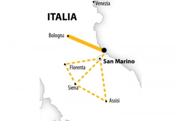 Harta Circuit Italia si Sejur Rimini | 7 zile - Avion | 2020