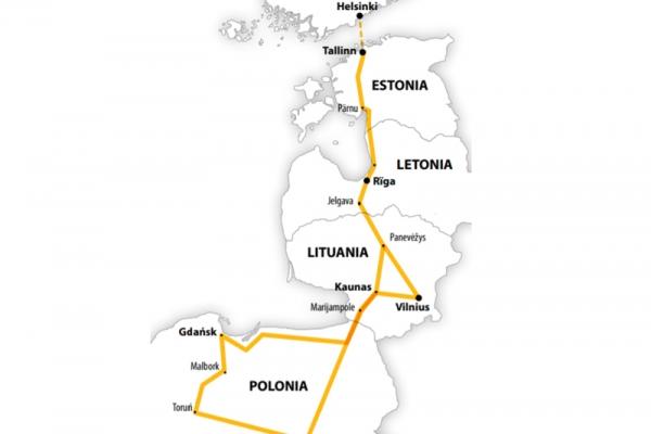 Harta Circuit Polonia - Tarile Baltice | 8 zile - Avion | 2020