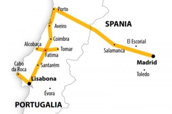 Harta Circuit Portugalia | 8 zile - Avion | 2020