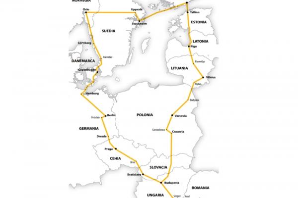 Harta Circuit Scandinavia - Ţările Baltice - Germania   16 zile - Autocar   2020