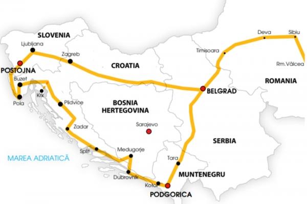 Harta Circuit Serbia Croația Slovenia | 8 zile - Autocar | 2021