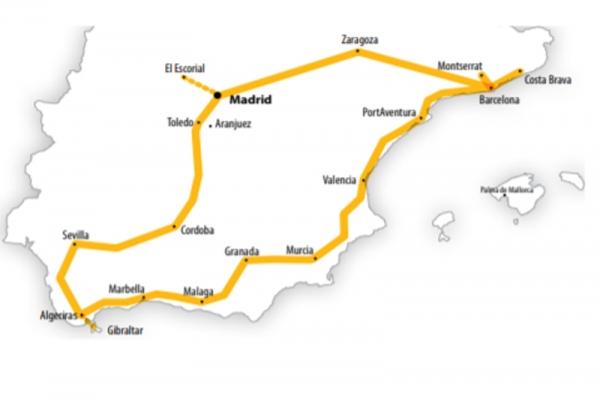 Harta Circuit Spania - Andaluzia | 8 zile - Avion | 2020