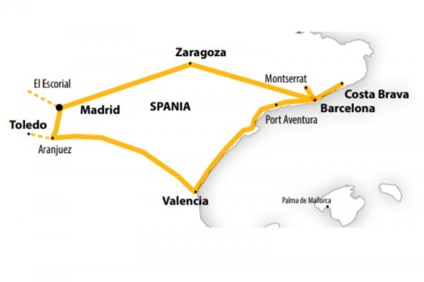 Harta Circuit Spania Clasica | 7 zile - Avion | 2020
