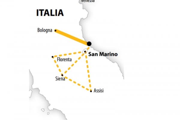 Harta Circuit Italia si Sejur la Rimini | 10 zile - Autocar | 2021