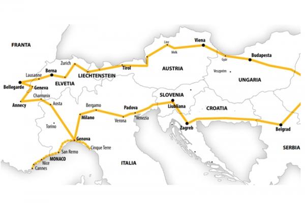 Harta Circuit Italia de Nord - Coasta de Azur si Elvetia | 9 zile - Autocar | 2021