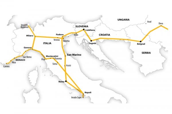 Harta Circuit Italia - Marile Lacuri - Coasta de Azur - Insula Capri   13 zile - Autocar   2021