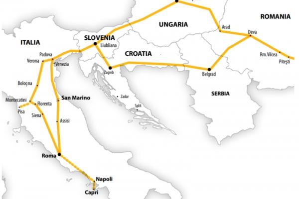 Harta Circuit Italia şi Insula Capri | 10 zile - Autocar | 2021