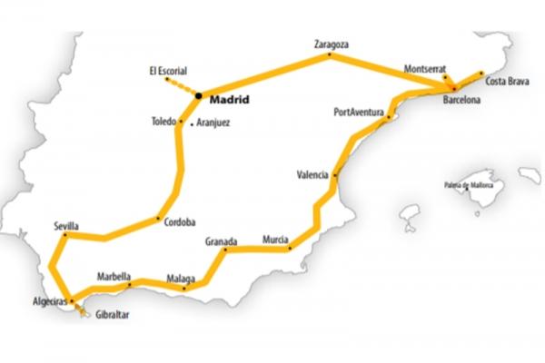 Harta Spania-Andaluzia Circuit 15 zile Autocar 2021