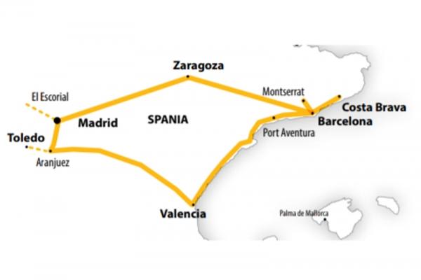 Harta  Circuit Spania Clasica | 13 zile - Autocar | 2021
