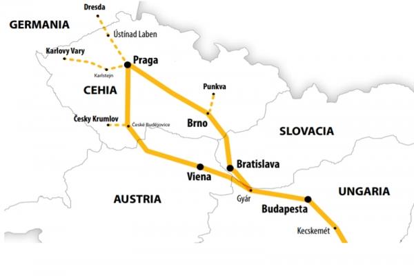 Harta Circuit Viena - Praga - Castelele Boemiei | 8 zile - Autocar | 2021 (Hotel 3*)